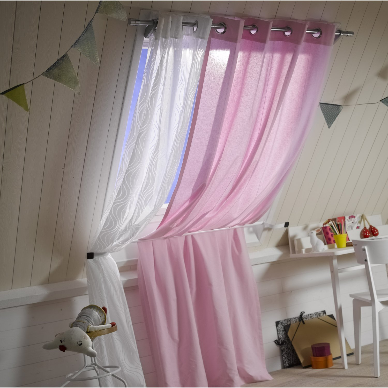 Support sans per age tringle rideau ib 25 mm chrom mat ib leroy merlin - Tringle a rideau sans percage ...