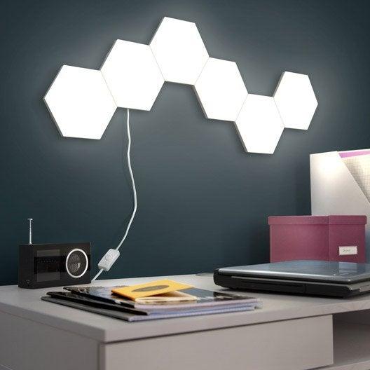 panneau led led int gr e puzzle 1 x 3 5 w plastique. Black Bedroom Furniture Sets. Home Design Ideas