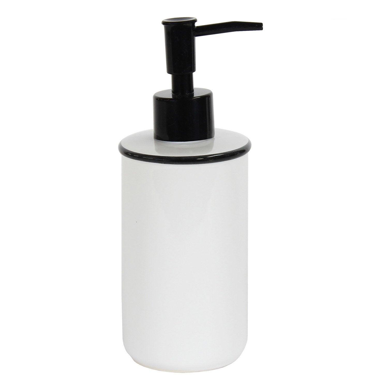 Distributeur de savon céramique Marcel, noir et blanc