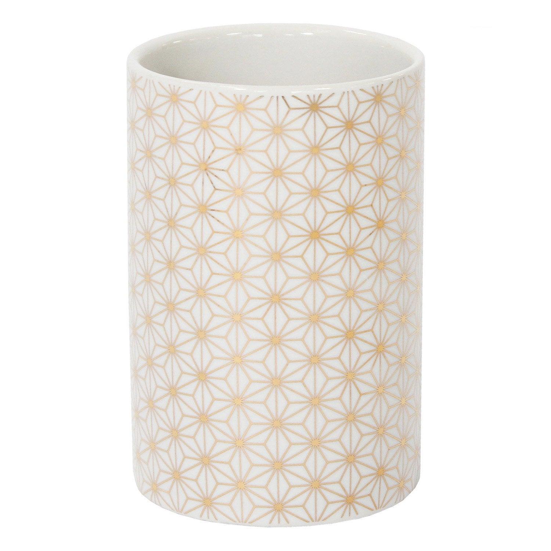 Gobelet céramique Boheme or, blanc et or