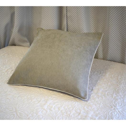 housse de coussin alaska beige fonc x cm leroy merlin. Black Bedroom Furniture Sets. Home Design Ideas