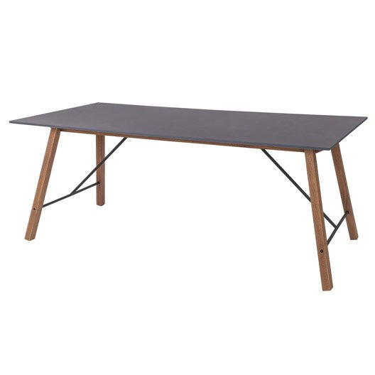 Table de jardin aluminium bois r sine leroy merlin for Table 6 personnes