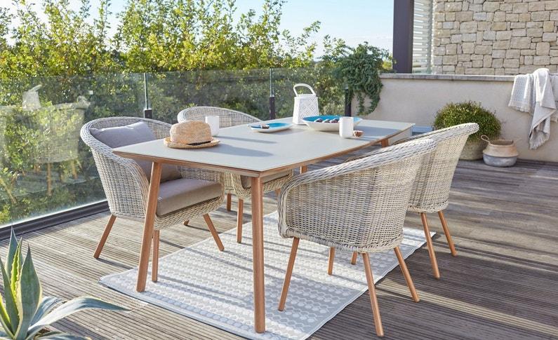 un tapis et du mobilier tendance leroy merlin. Black Bedroom Furniture Sets. Home Design Ideas