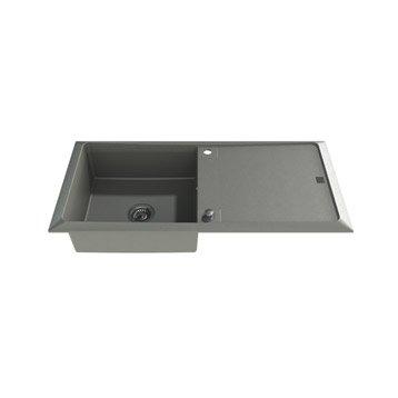 Evier de cuisine encastrable ou poser inox quartz for Evier resine gris 1 bac