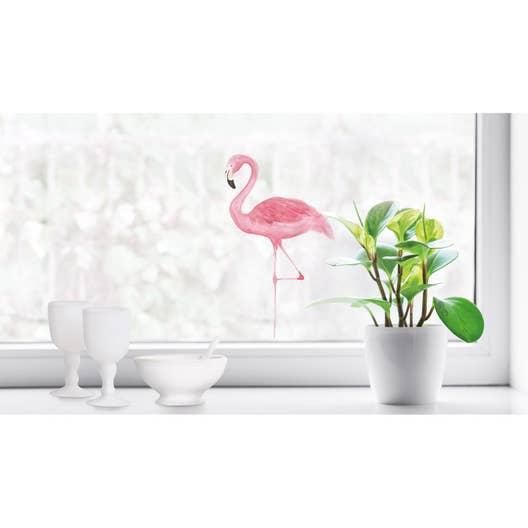 Salle De Bain Gris Beige Marron ~ sticker flamant rose 24 cm x 36 cm leroy merlin