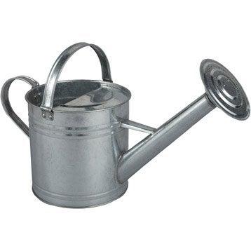 Arrosoir rond en acier galvanisé, 3 L