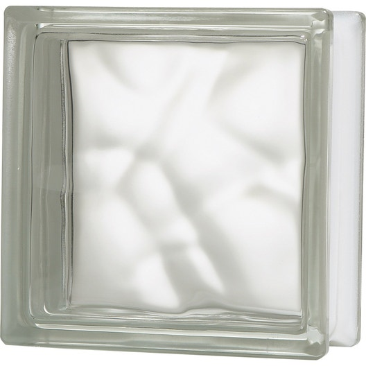 brique de verre transparent ondul brillant