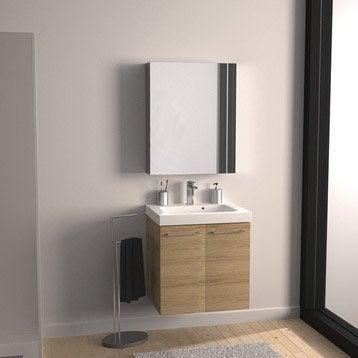 Meuble de salle de bains meuble vasque miroir colonne - Colonne de rangement salle de bain leroy merlin ...