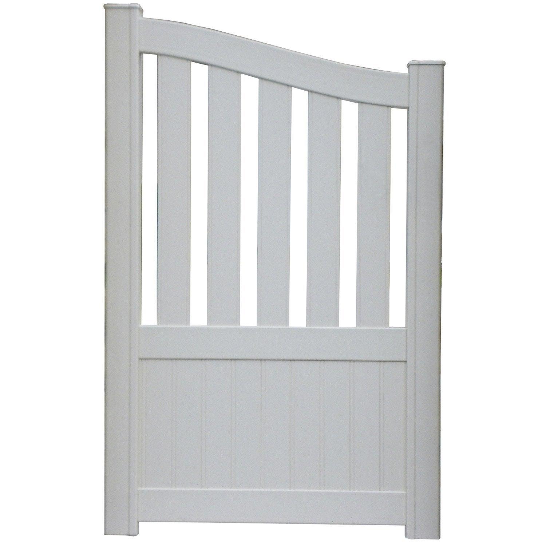 portillon battant naterial moellan x cm blanc leroy merlin. Black Bedroom Furniture Sets. Home Design Ideas