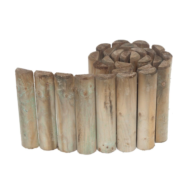 Bordure à dérouler bois naturel, H.30 x L.200 cm | Leroy Merlin