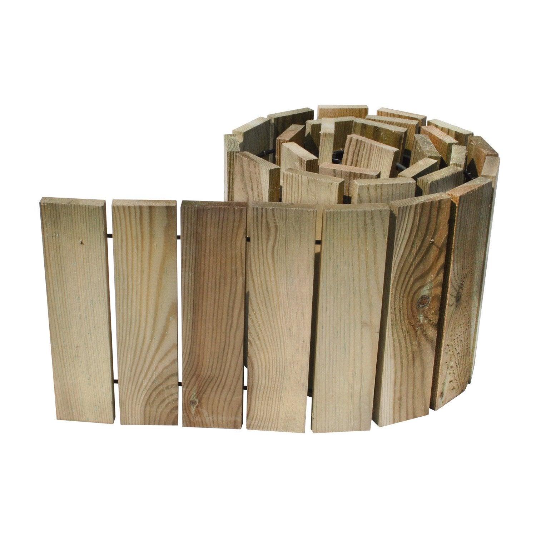 bordure d rouler bois naturel x cm leroy. Black Bedroom Furniture Sets. Home Design Ideas