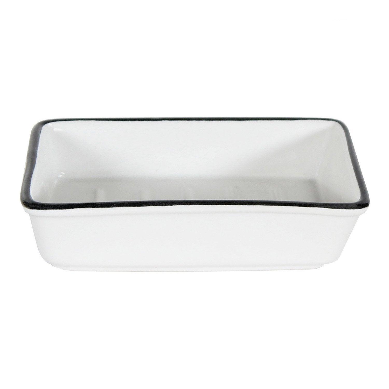 Porte-savon céramique Marcel, noir et blanc