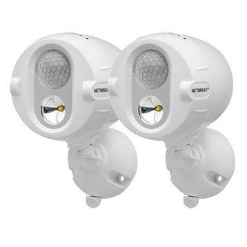 Lot de 2 projecteurs à détection connectés à piles 200 Lm blanc MR BEAMS