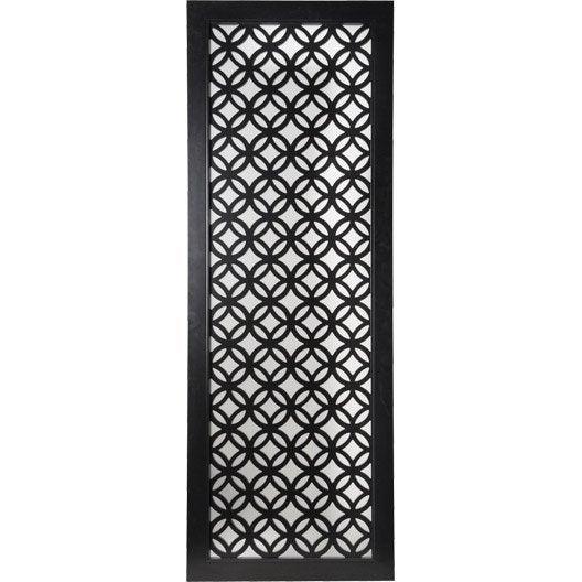 Porte coulissante noir nath artens x cm for Porte coulissante leroy merlin artens