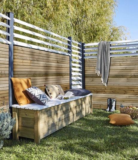 le panneau id al pour un jardin bien cl tur leroy merlin. Black Bedroom Furniture Sets. Home Design Ideas