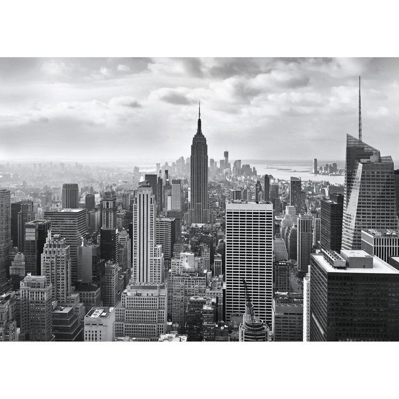 Photo Murale New York City Noir Blanc Papier Komar L 368 X H 254 Cm