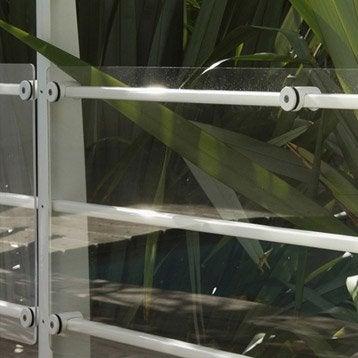 Plaque pour garde-corps TIERAL verre acrylique transparent H.120 x l.44 cm