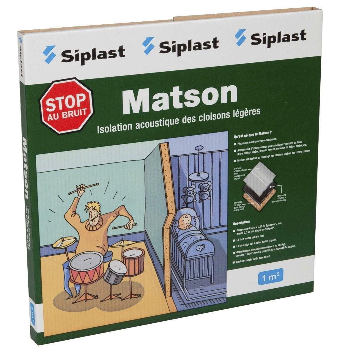 Dalle En Matériaux Visco élastiques Matson MONARFLEX 0.5x0.5m, Ep.7mm