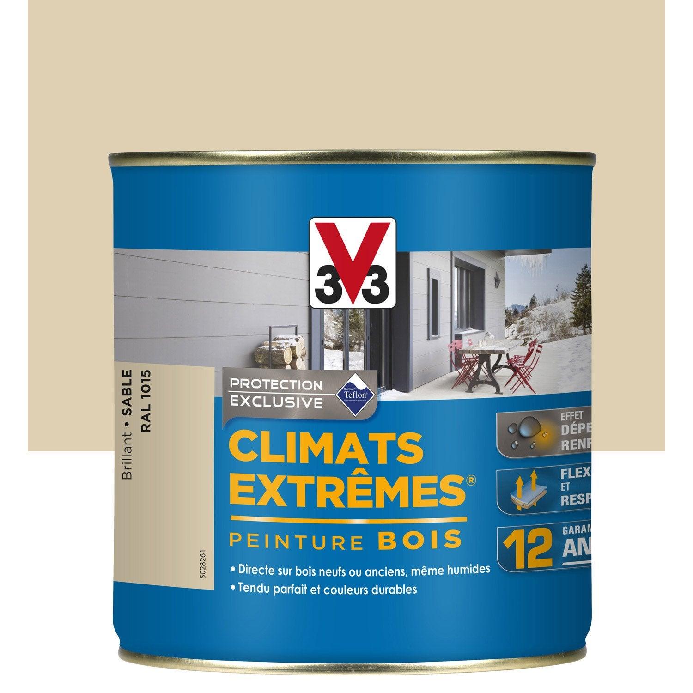 peinture bois ext rieur climats extr mes v33 brillant sable 2 5 l leroy merlin. Black Bedroom Furniture Sets. Home Design Ideas