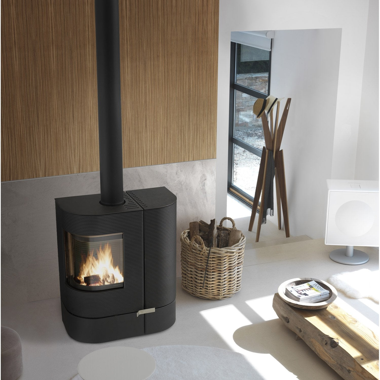 po le bois invicta mix anthracite 6196 44 6 kw leroy. Black Bedroom Furniture Sets. Home Design Ideas