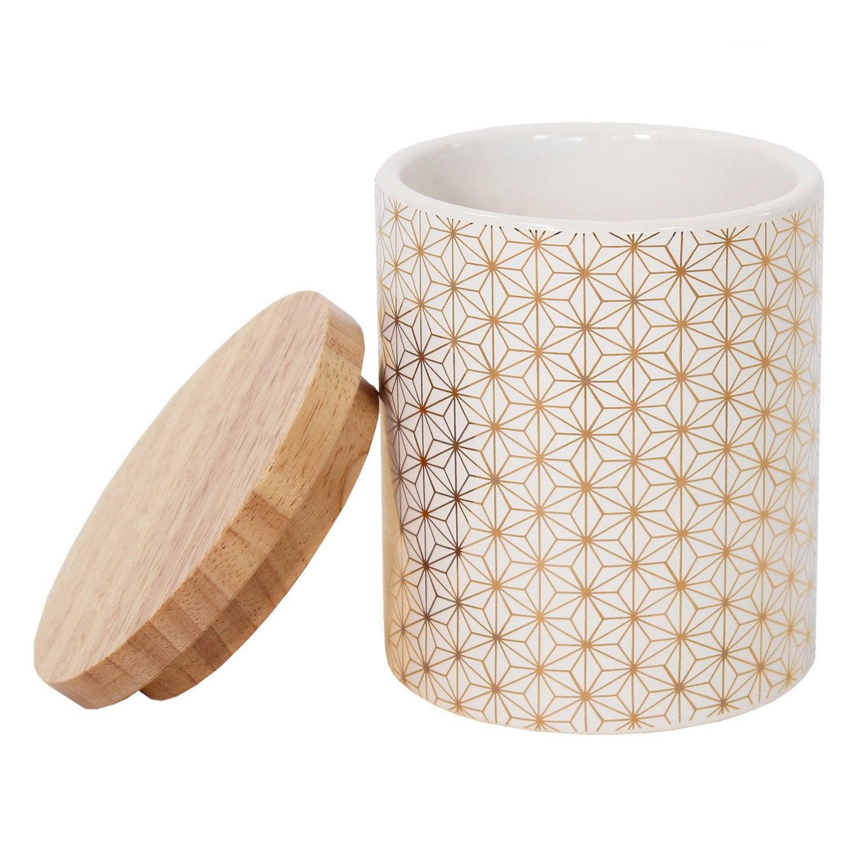 Boîte céramique Boheme or, blanc et or