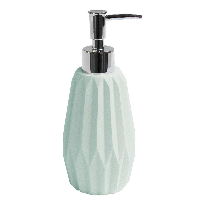 Distributeur de savon polyrésine Issey, vert d'eau