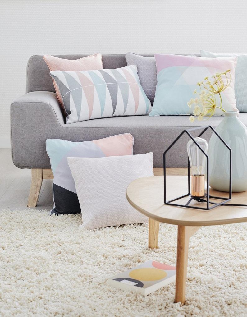 coussins choisis pour un style scandinave leroy merlin. Black Bedroom Furniture Sets. Home Design Ideas