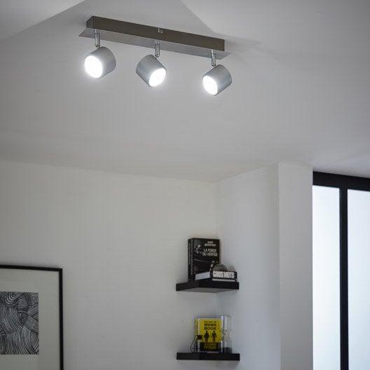 rampe 3 spots design led int gr e m tal 3 inspire leroy. Black Bedroom Furniture Sets. Home Design Ideas