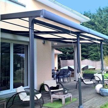 Tonnelle pergola toiture de terrasse leroy merlin - Tonnelle adossee retractable ...