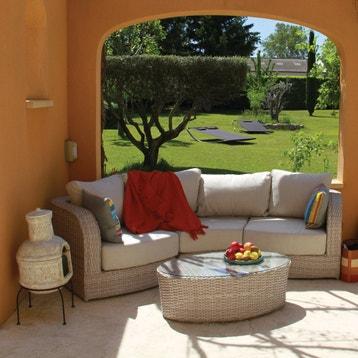 Salon bas de jardin Salon arc de cercle manja aluminium gris ...