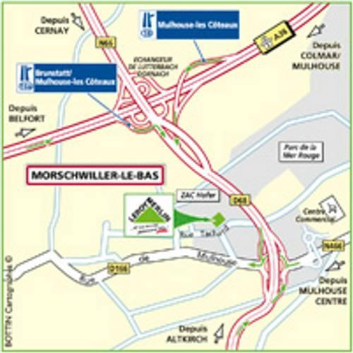 Plan d'accès au magasin Leroy Merlin de Vendenheim