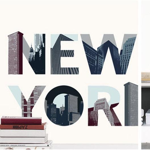 Sticker new york 49 cm x 69 cm leroy merlin for Stickers murali leroy merlin