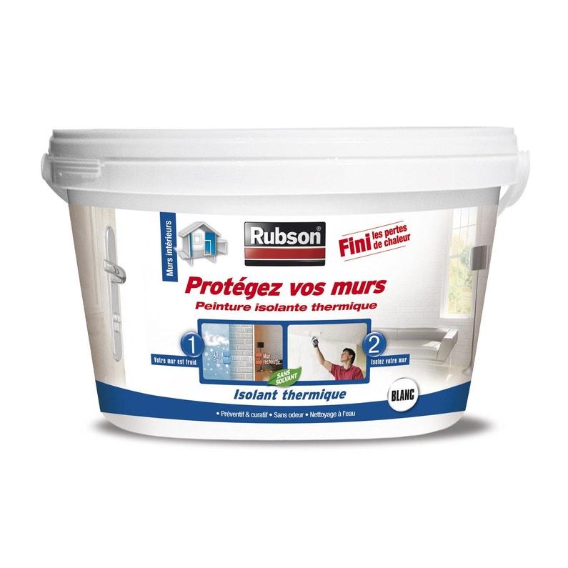 Peinture Thermique Protégez Vos Murs Rubson Blanc 2 5 L