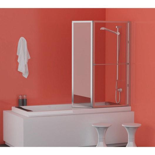 pare baignoire 2 volets pivotant pliant cm lm 104. Black Bedroom Furniture Sets. Home Design Ideas