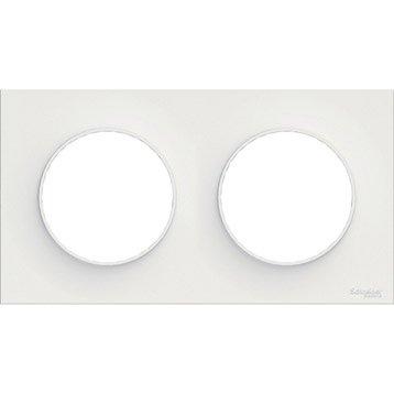 Plaque double Odace, SCHNEIDER ELECTRIC blanc