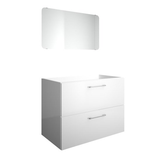 meuble sous vasque x x cm blanc happy leroy merlin. Black Bedroom Furniture Sets. Home Design Ideas
