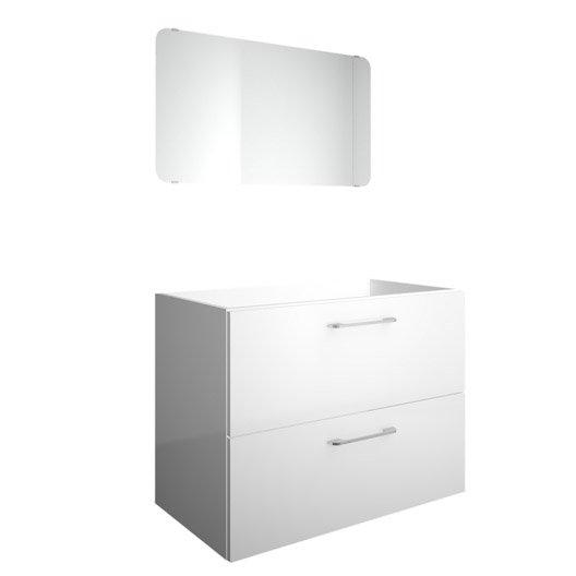 meuble sous vasque x x cm blanc happy leroy merlin. Black Bedroom Furniture Sets. Home Design Ideas