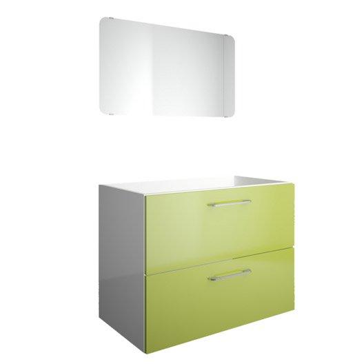 meuble sous vasque miroir x x cm vert. Black Bedroom Furniture Sets. Home Design Ideas