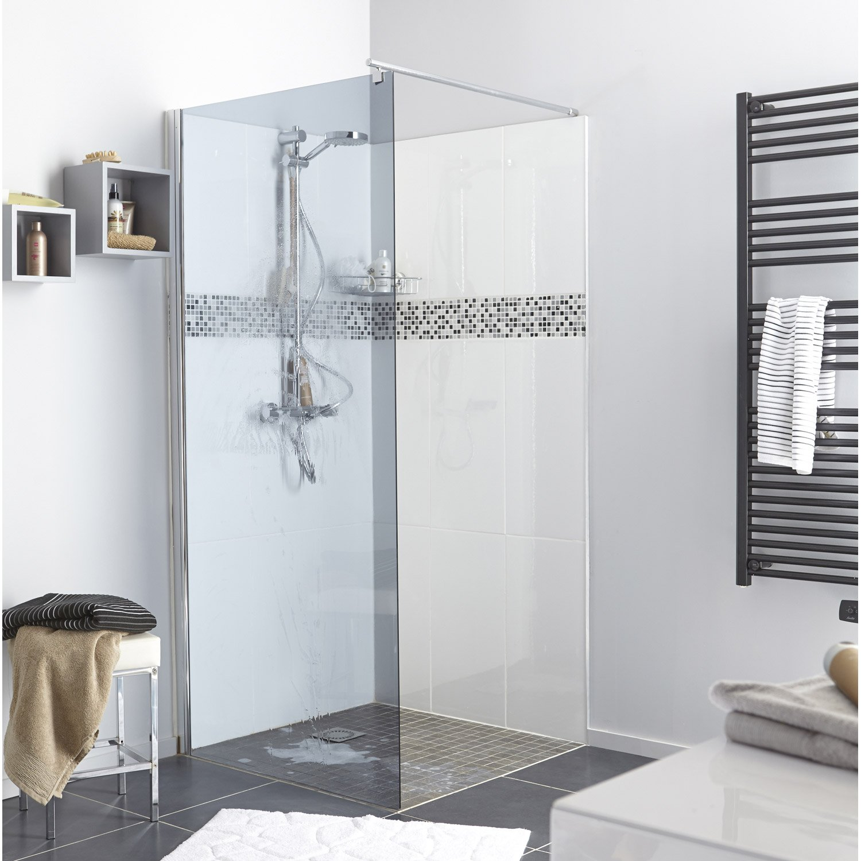 paroi de douche l 39 italienne cm verre fum 6 mm open 2 leroy merlin. Black Bedroom Furniture Sets. Home Design Ideas