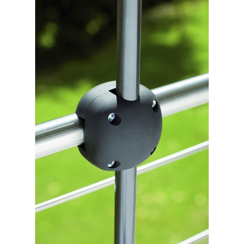 Pince de fixation balcon foxi noir leroy merlin - Table a accrocher au balcon ...