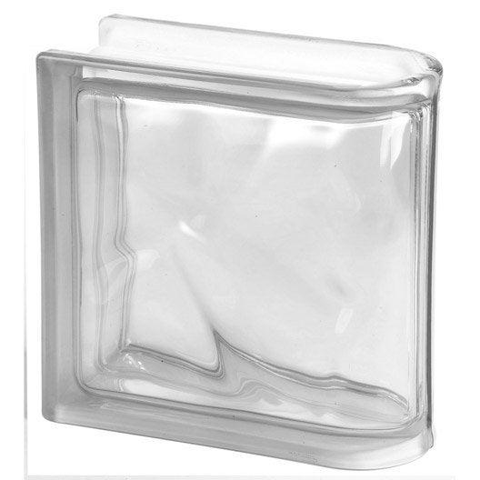 brique de verre transparent ondul brillant with tole ondule translucide leroy merlin. Black Bedroom Furniture Sets. Home Design Ideas