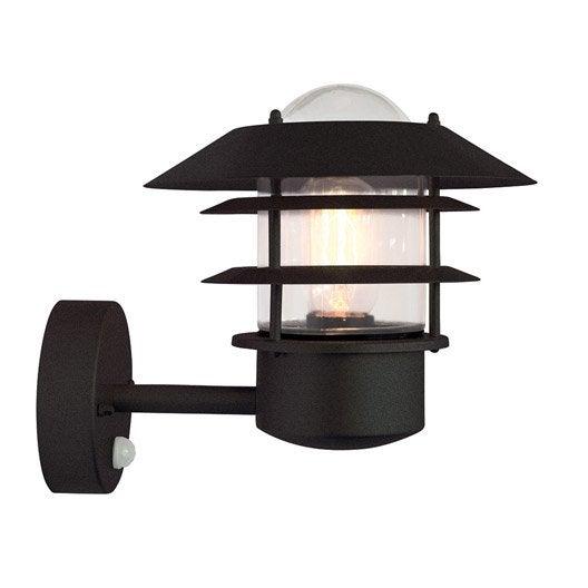 applique d tection ext rieure helsingor e27 60 w noir. Black Bedroom Furniture Sets. Home Design Ideas