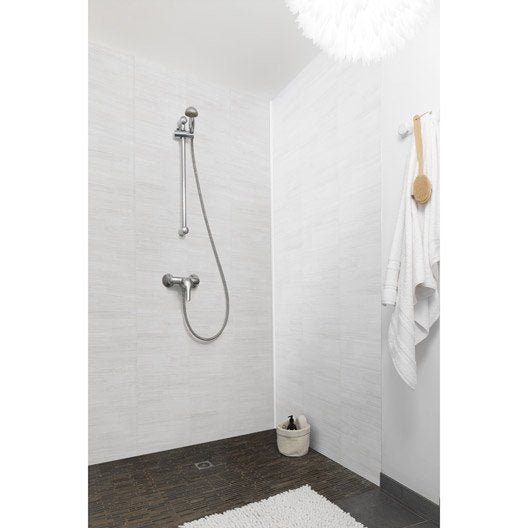 lambris pvc dune blanc grosfillex element x. Black Bedroom Furniture Sets. Home Design Ideas