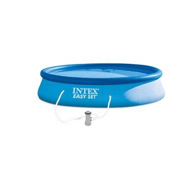 Piscine hors-sol autoportante gonflable Easy set INTEX, Diam.3.96 x H.0.84 m