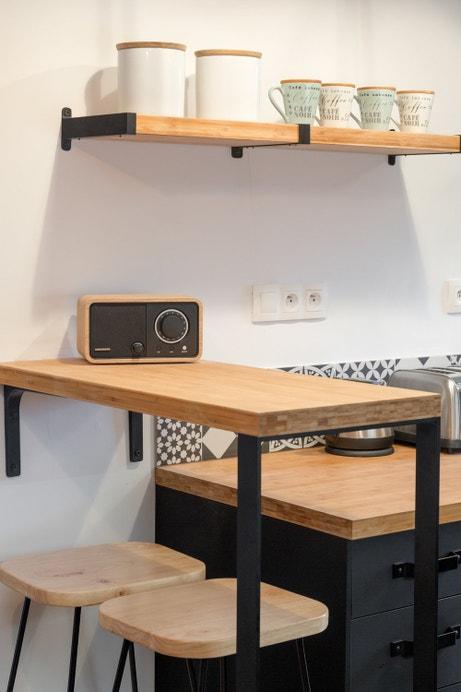La cuisine au style industriel campagne d'Audrey à Jouy-en-Josas