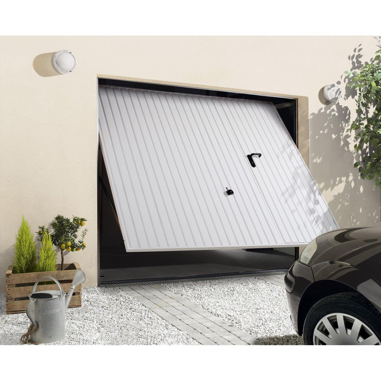 Porte de garage basculante manuelle x cm for Porte de garage n80