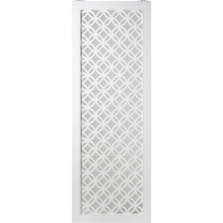 Porte coulissante blanc Nath ARTENS, H.204 x l.73 cm