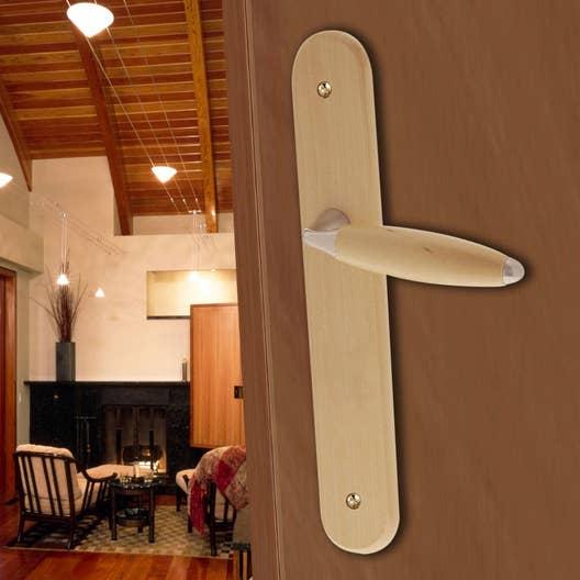 2 poign es de porte john sans trou bois 195 mm leroy merlin. Black Bedroom Furniture Sets. Home Design Ideas