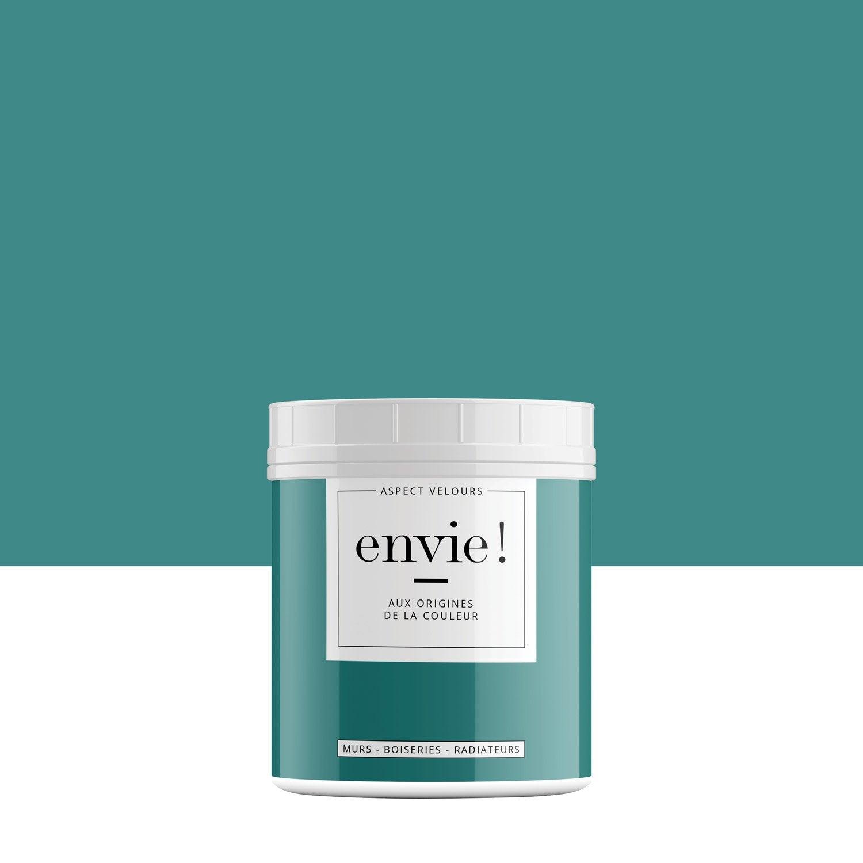 Testeur Peinture Envie Bleu Cascade Velours Luxens 0 075 L Leroy