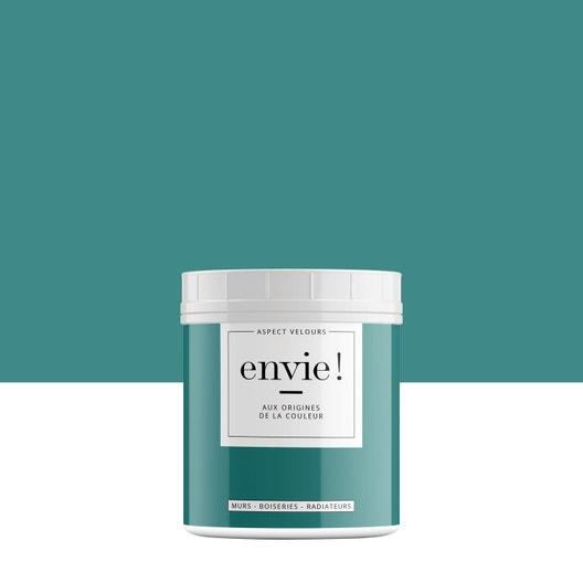testeur peinture envie bleu cascade velours luxens l leroy merlin. Black Bedroom Furniture Sets. Home Design Ideas